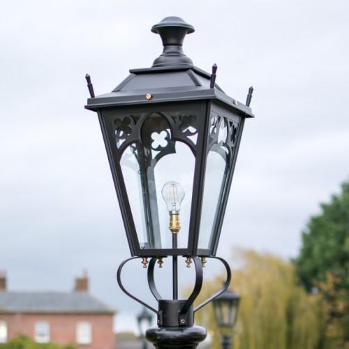 Medium Black Gothic Lamp Post Top