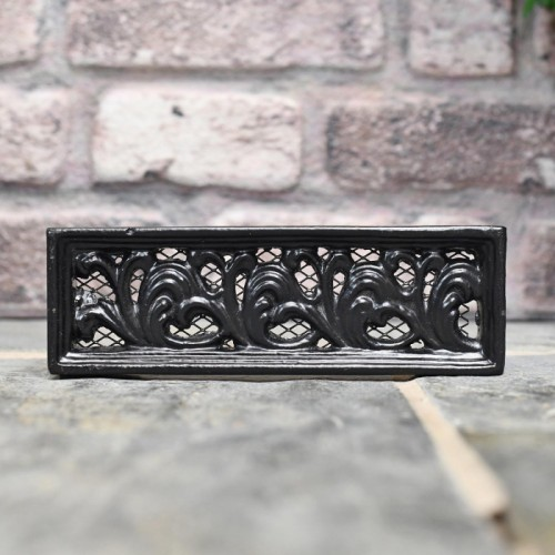 Cast iron air vent 9 x 3 finished in black