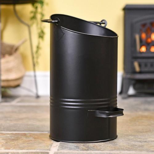 Black Modern Simplistic Coal Hod