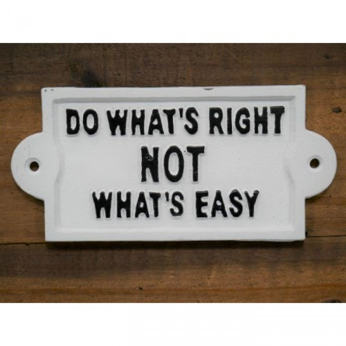 Philosophical Iron Sign in White