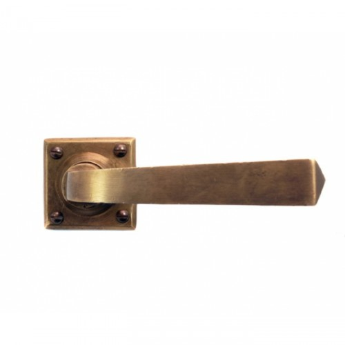 Lever Handle on Square Rose