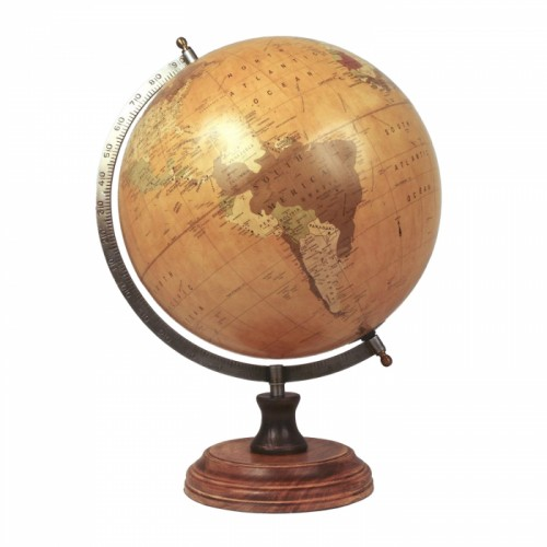 Ornamental Globe on a Wooden Base