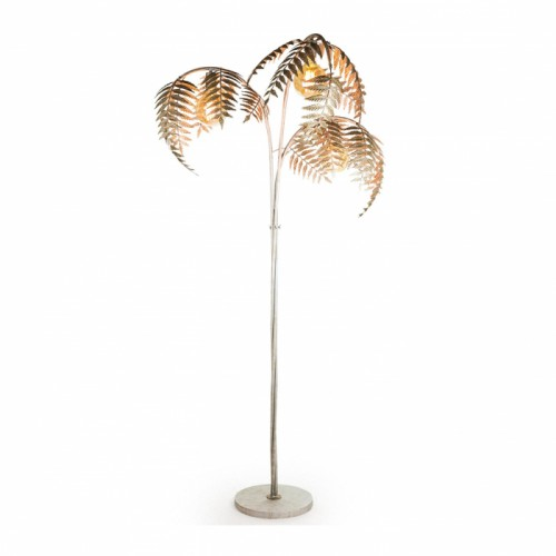 Palm Tree Floor Lamp with the Lamp Turned On