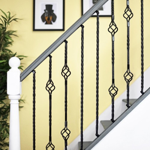 """Grosvenor"" Rope Twist Stair Spindle with Brackets"