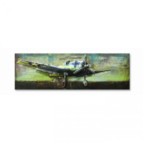 """""""Thunderbolt"""" 3-D Vintage Plane Wall Art"""