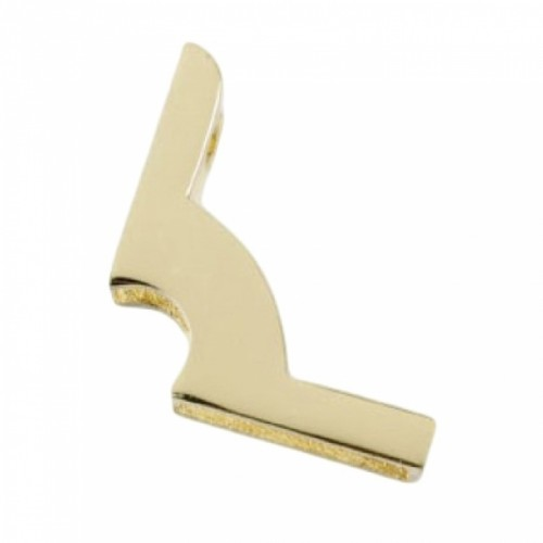 Polished Brass Fixing Bracket No Hinge - 16mm