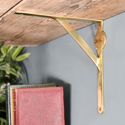 Polished Brass Gallows Bracket in Situ