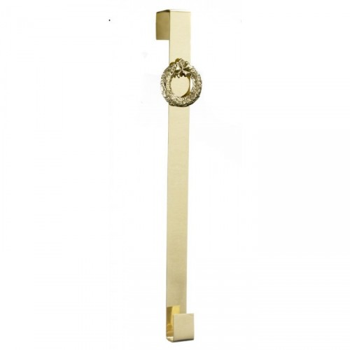 Polished Brass Wreath Design Wreath Hanger