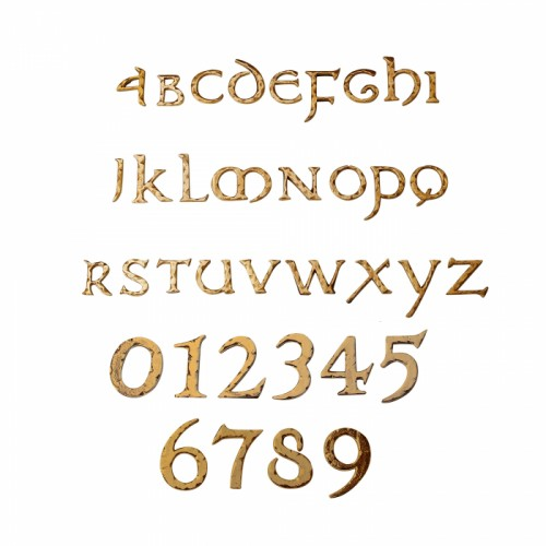 copper self adhesive numbers and letters in group