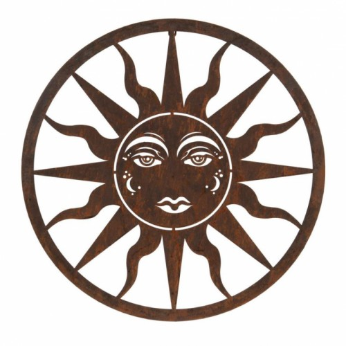 Sun Wall Art in a Rustic Finish