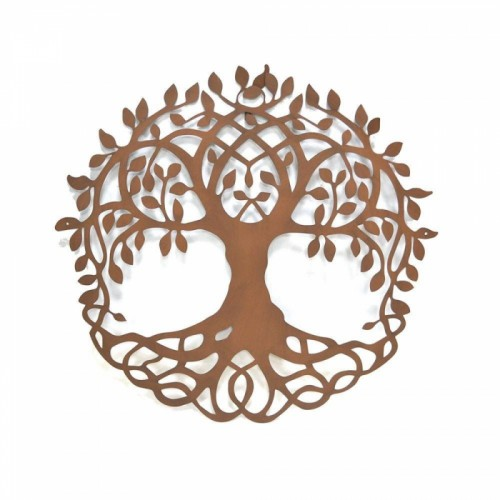 "Rustic ""Tree of Life"" Circular Wall Art - 99cm"
