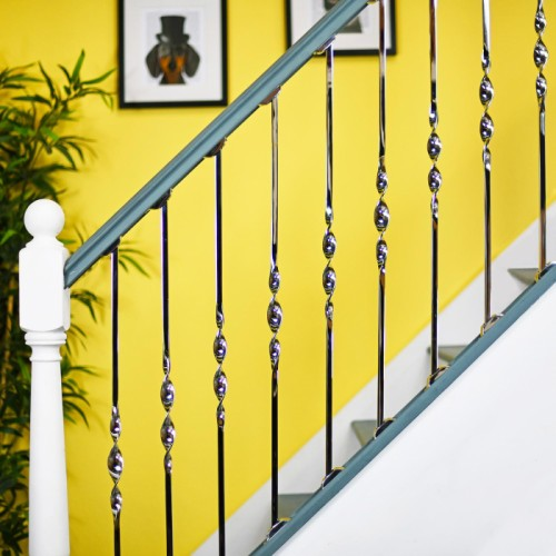 Stainless Steel Single Bold Twist Stair Rod