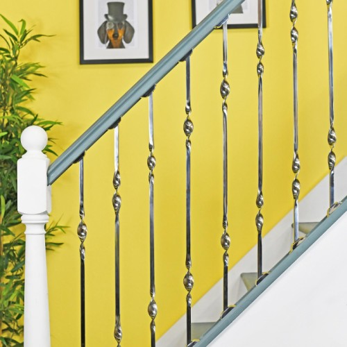 Alessi Double Bold Twist Stainless Steel Stair Spindle