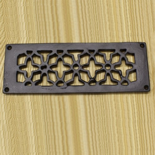 Flower Design Satin Black Cast Iron Air Brick