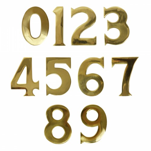 3 Inch Self Adhesive Solid Brass numbers