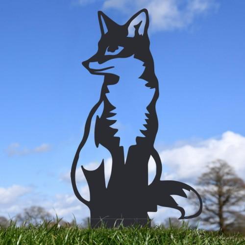 Black Sitting Fox Silhouette
