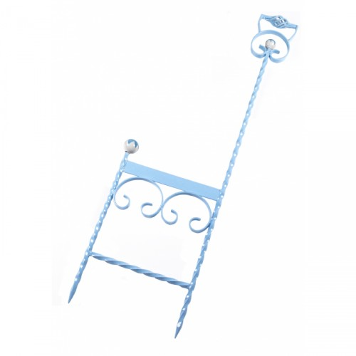Sky Blue wrought Iron boot scraper