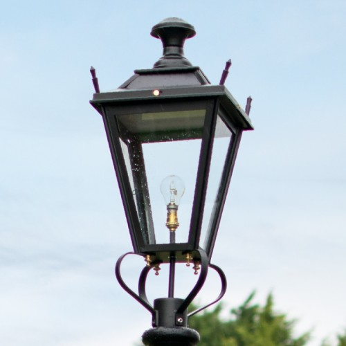 Small Black Dorchester Lantern Lantern Top