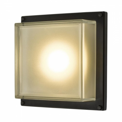 Square Flat Wall Light in Use
