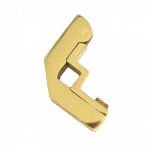 Brass Hinged Square Stair Bracket - 9mm