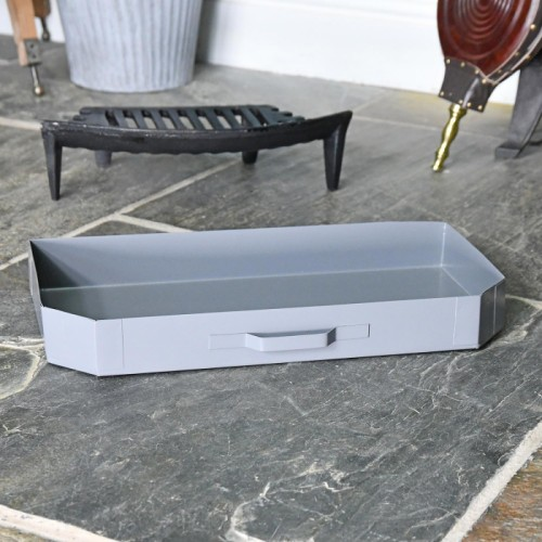 Steel 'Basket' Ash Pan in a Grey Finish