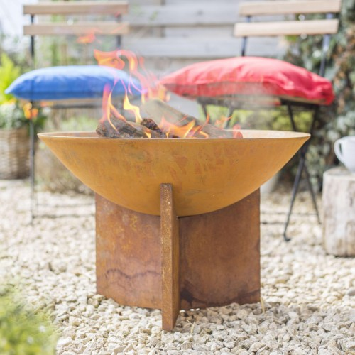 Rustic Fire Bowl in Situ