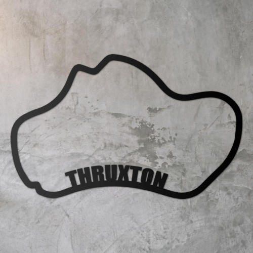 Thruxton Race Track Wall Art on a Rustic Grey Wall