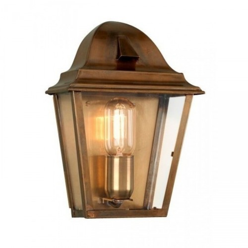 Traditional Antique Brass Half Wall Lantern
