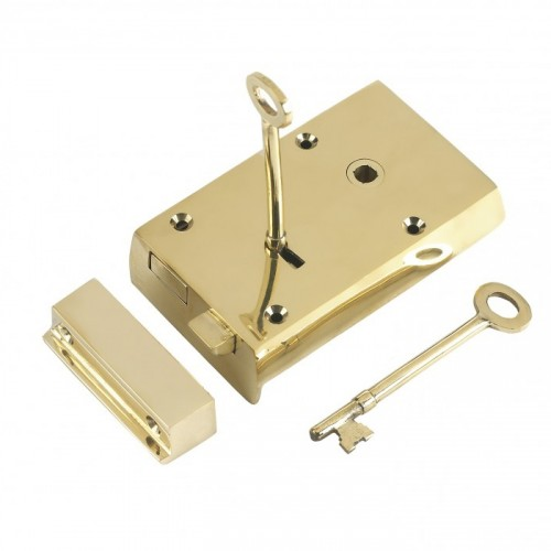 Polished Brass Large rim Lock
