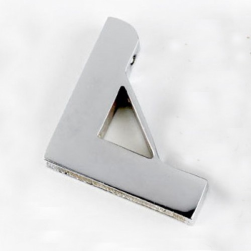 Small Unhinged Bright Chrome Triangle Carpet Bracket