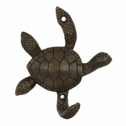 Turtle Coat Hook in an Antique Bronze