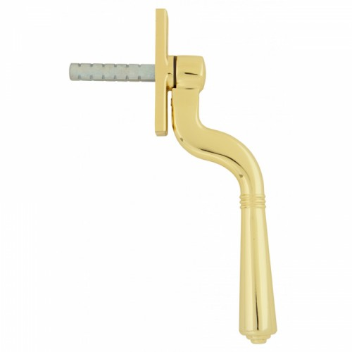 Polished Brass Teardrop Espagnolette Window Fastener