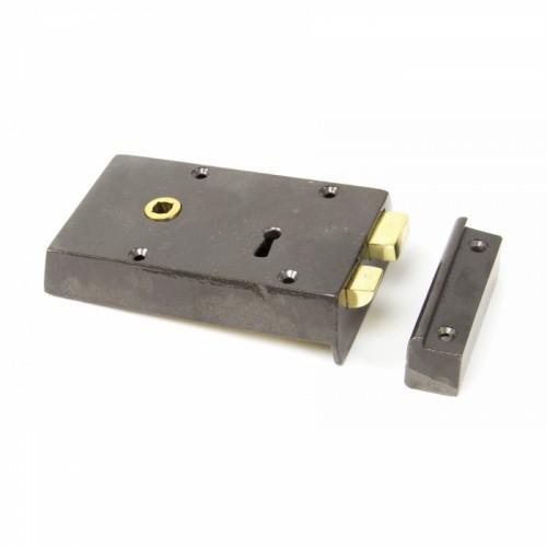 Left Hand Iron Rim Lock - Small