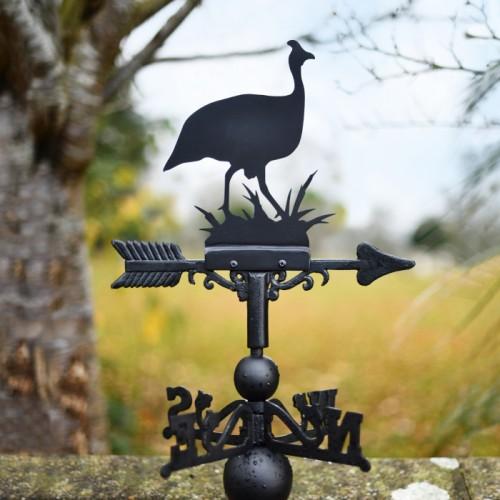 Guinea Fowl Weathervane in Garden