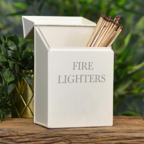 Fire Lighters Box in Cream with Fire Lighters Text on the Front