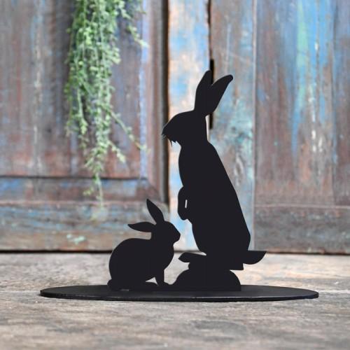 Rabbit Iron Door Stop in Black