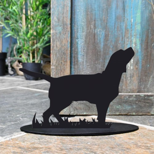Beagle Door Stop Created Out of Iron