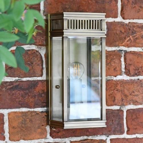 Rectangular Bronze Wall Light