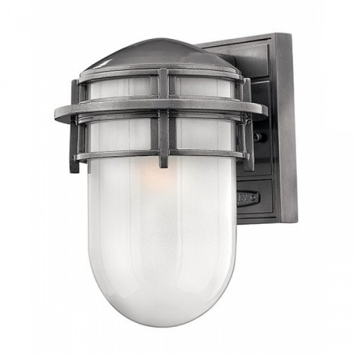 """Douglas"" Large Outdoor Platinum Wall Lantern"