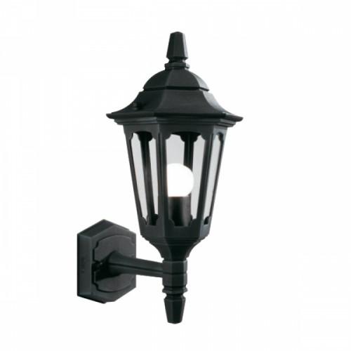 """Bridlington"" Standard Bottom Fix Black Wall Lantern"