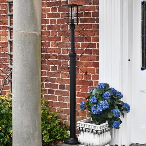 Garden lamp post contemporary lamp post set