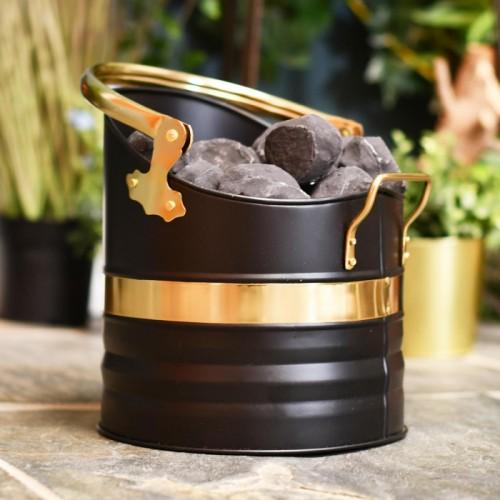 Black and Brass Warwick Coal Bucket