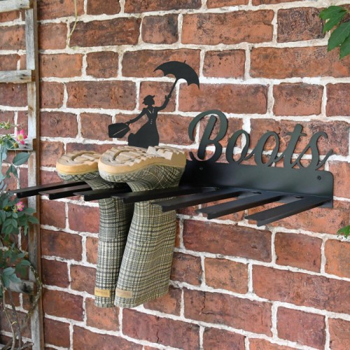 Wall Mounted Liver Bird Iron Boot Holder in Situ Holding Wellys