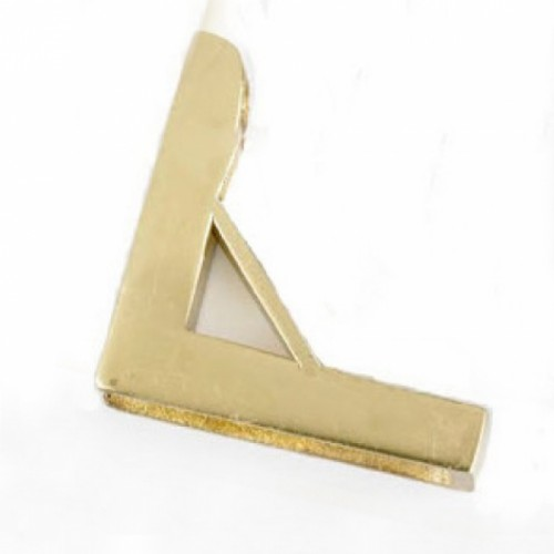 Brass Small Unhinged Triangle Bracket