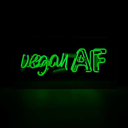 """Vegan AF"" Neon Wall Light in Green"