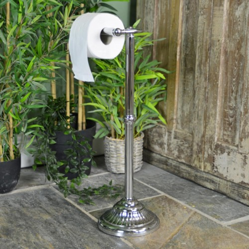 Victorian Free Standing Toilet Roll Holder in Situ