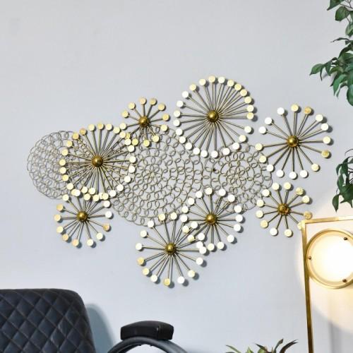 Golden Dandelion Wall Art in Situ