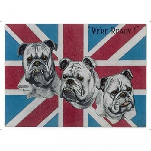 """We're Ready"" Bulldog Metal Sign"
