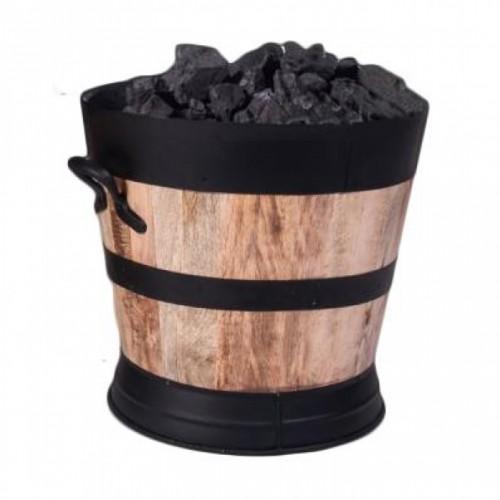 Innsbruck Wooded Coal Scuttle Holding Coal