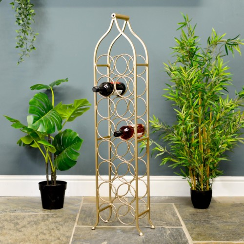 """Monticello"" Double Row Wine Rack in Situ Holding wine Bottles"